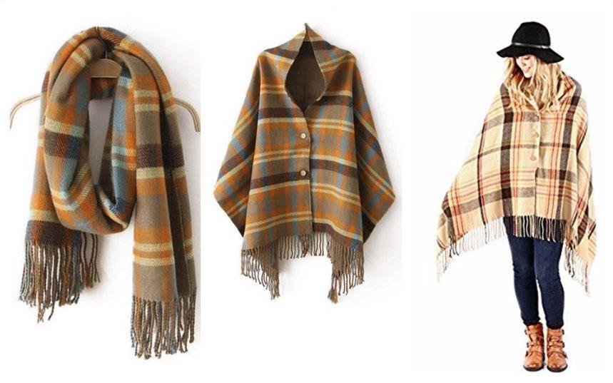 Пальто из шарфа