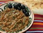 Пюре из шпината, помидоров и баклажанов