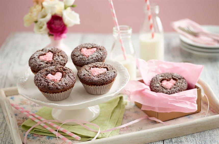 Кексы с сердцем