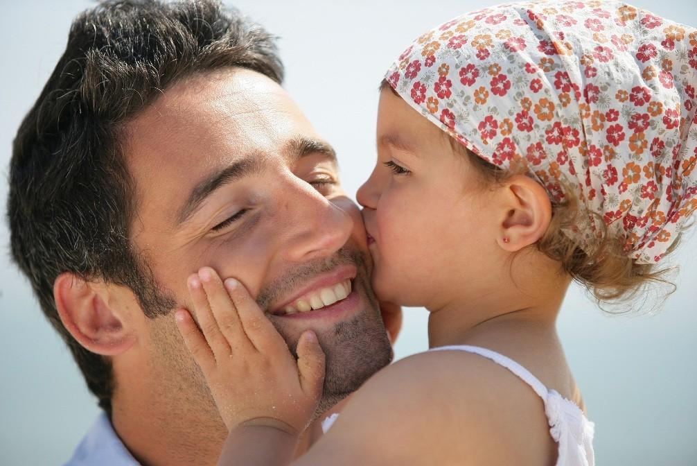Картинка отца с дочкой