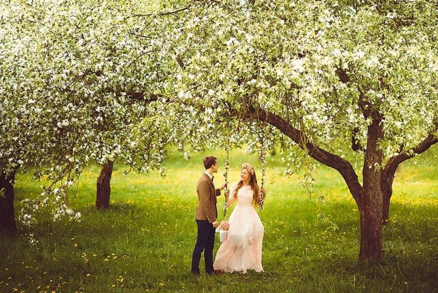 касается идеи для свадебной фотосессии весной фото всех
