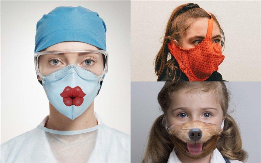 Необычные противовирусные маски