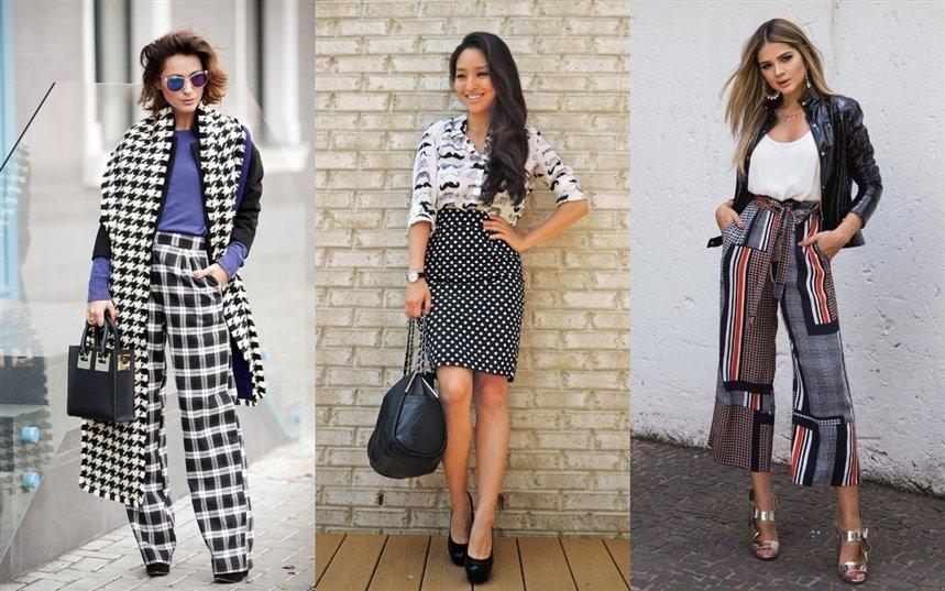 Как комбинировать принты в одежде