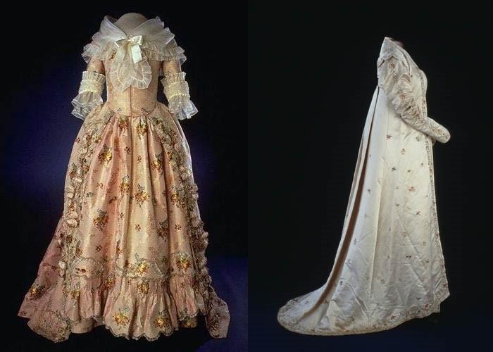 Платья Марты Вашингтон и Долли Мэдисон