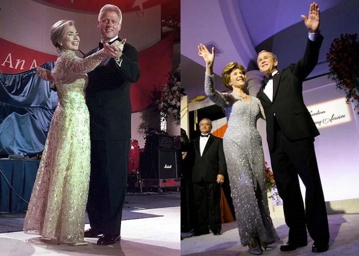Хиллари Клинтон и Лора Буш