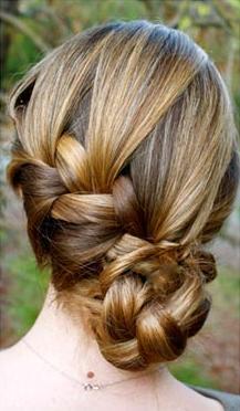 Классическая французская коса по диагонали 2