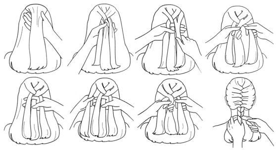 Техника плетения классической французской косы