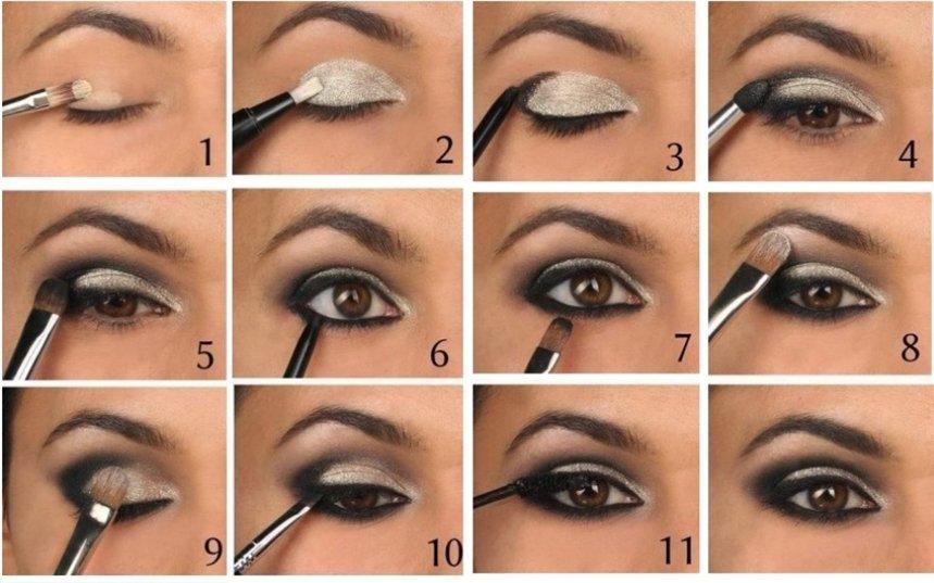 Классический дымчатый макияж