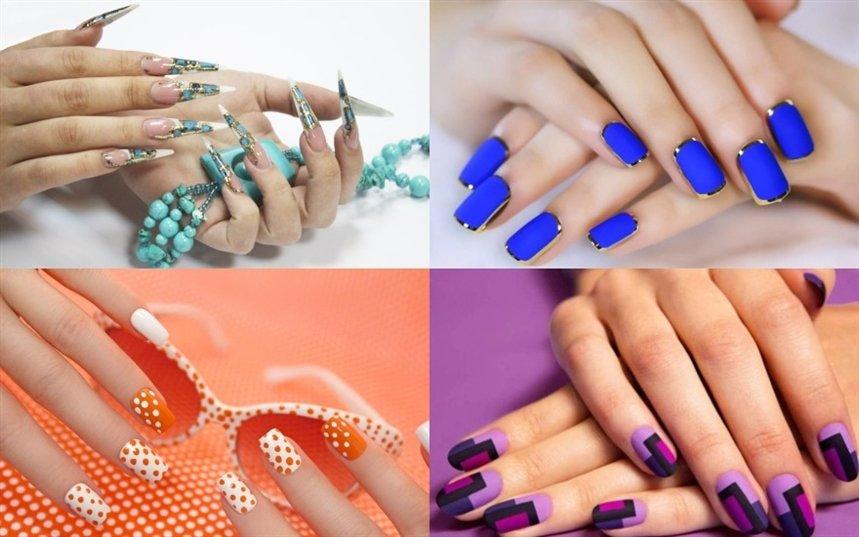 Идеи маникюра разных цветов