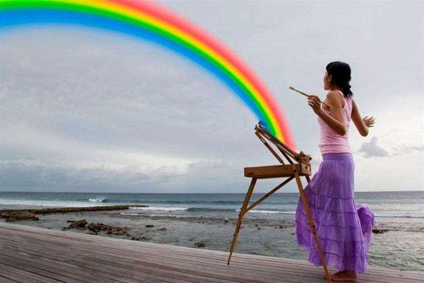 Я люблю радугу фото