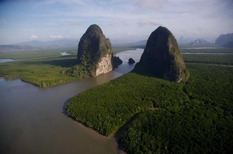 Мангровые леса в Национальном парке Панг Нга, Таиланд