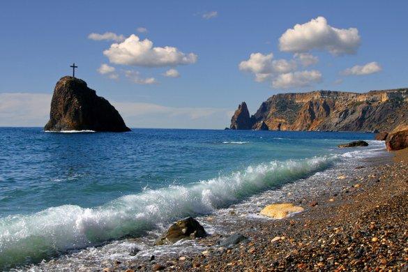 Яшмовый пляж на мысе Фиолент