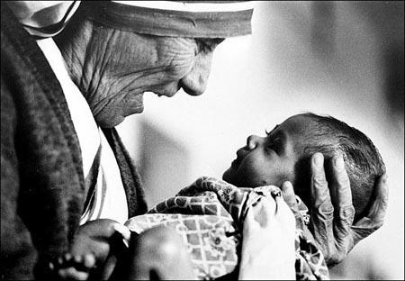 забота и любовь матери терезы