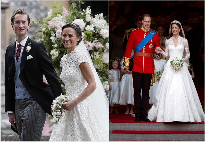 кейт и пиппа миддлтон свадьбы